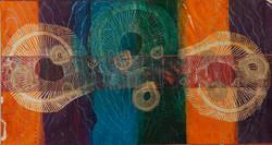 Orange through to blue tones