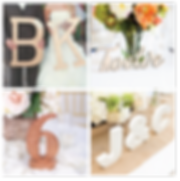 Cabo Wedding Wood initials, wood,  table numbers,