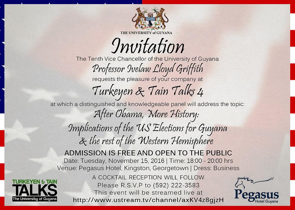 Turkeyen & Tain Talks 4 Evite