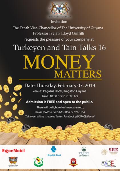 """Turkeyen and Tain Talks 16 """"Money Matters"""""""