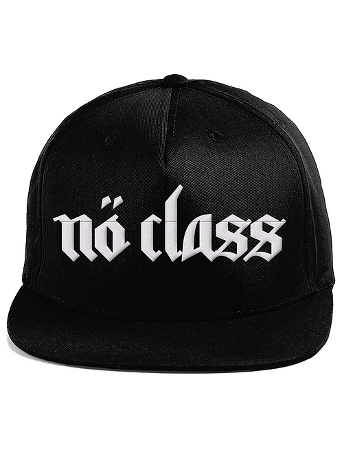 NO CLASS - 5 panel embroidered snapback