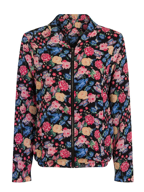 KILLED BY DEATH - lightweight floral bomber jacket