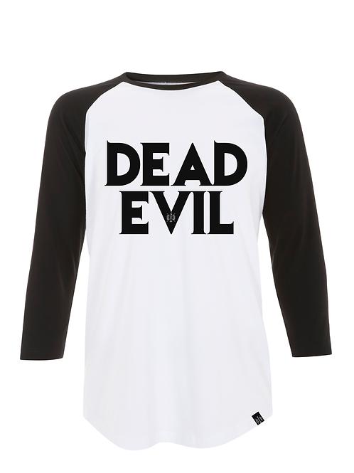 DEAD EVIL - unisex 3/4 sleeve baseball raglan