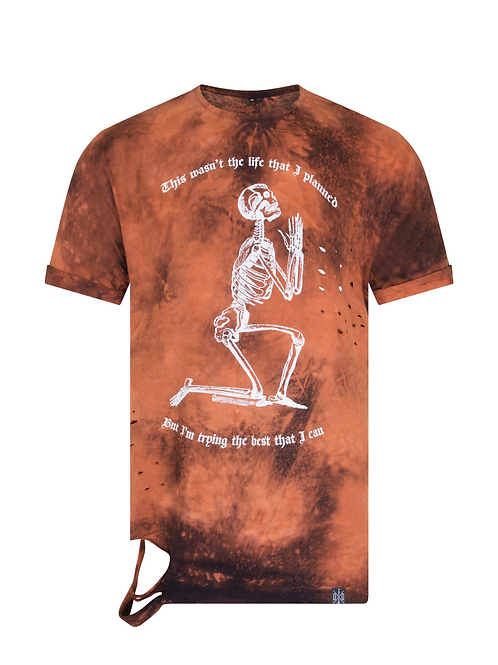'TILL THE END' - unisex bleached distressed shirt