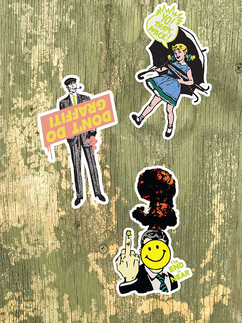 MINI STICKER SET : GRAFFITI EDITION- vinyl sticker