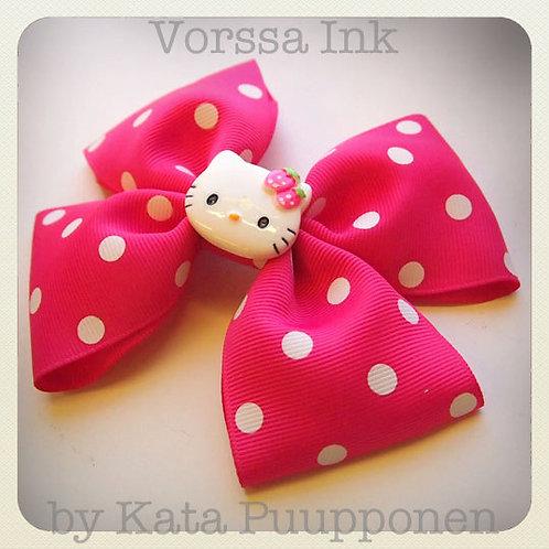 Kawaii Polka Dot Bow & Hello Kitty