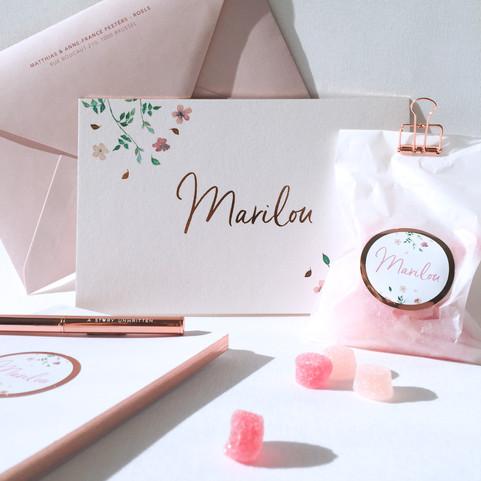 geboortekaartje Marilou