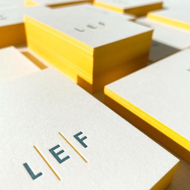 businesscard restaurant LEF