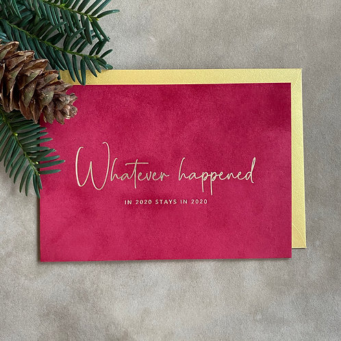 Velvet kerstkaart | Whatever happened