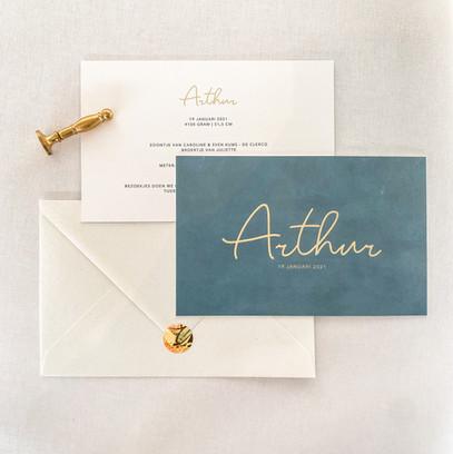Arthur velvet uitgelijnd letterpress 004