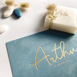 Arthur velvet uitgelijnd letterpress 003