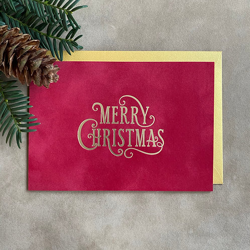 Velvet kerstkaart | Merry Christmas