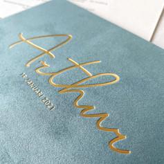 Arthur velvet uitgelijnd letterpress 001