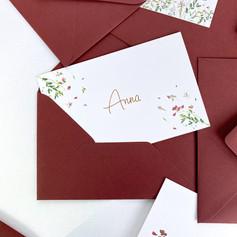 letterpress geboortekaartje Anna