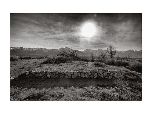 Hospital Retaining Wall, Mt. Williamson and the Sierra Nevada