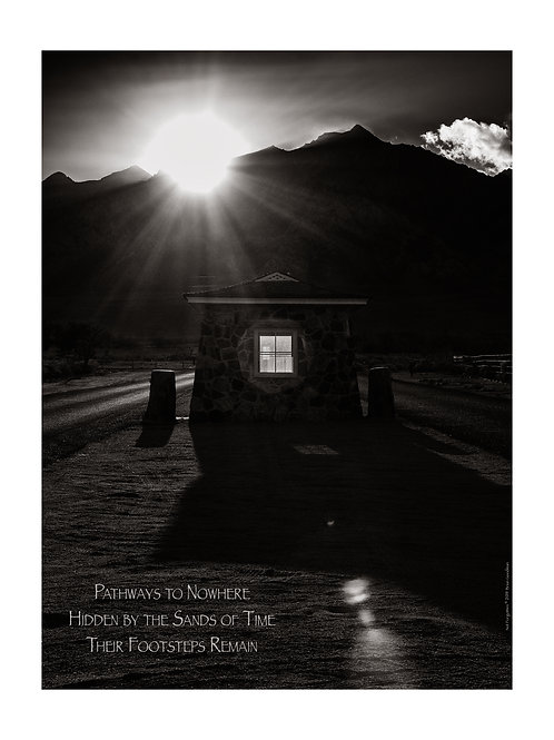 Haiku Print - Sentry Post and Mount Williamson