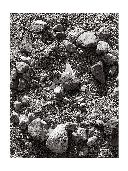 Grave with Crane