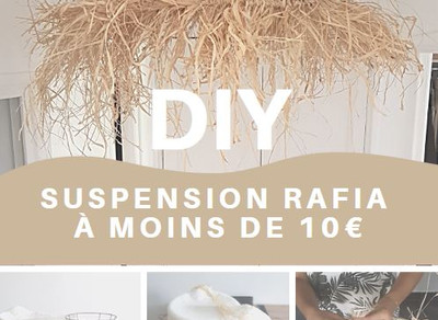 DIY - Suspension en rafia à moins de 10€