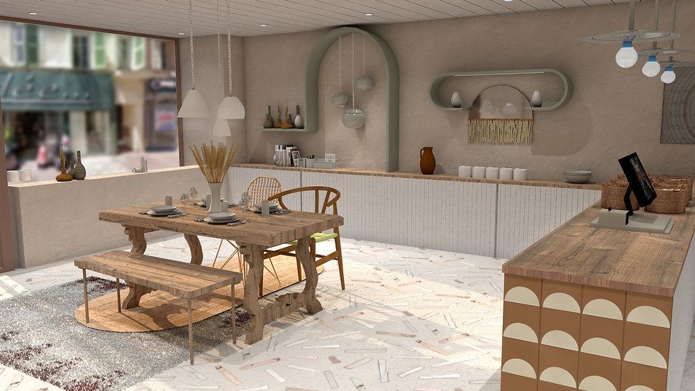 Rénovation d'une boutique de céramique à Cannes