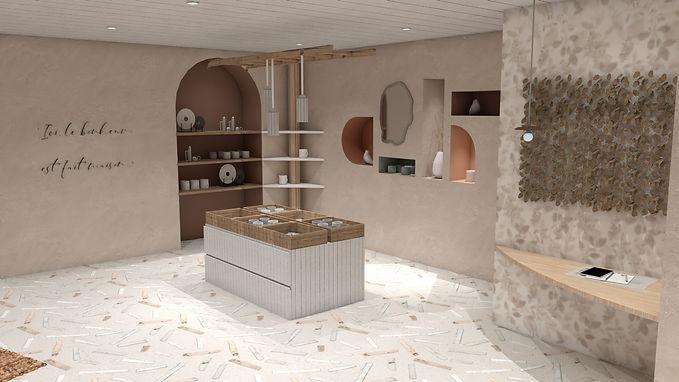 Décoration d'intérieur, rénovation boutique de céramique à Cannes