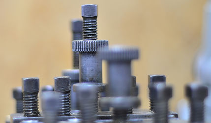Close up of machine tools