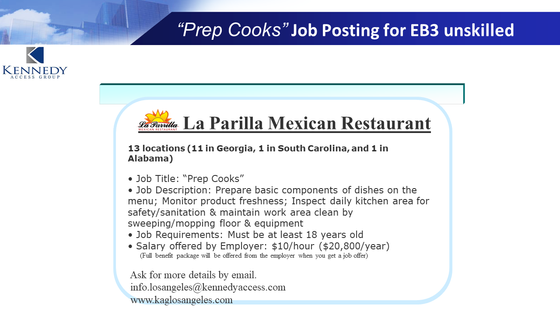 "Job Title: ""Prep Cooks""  - August 2019"