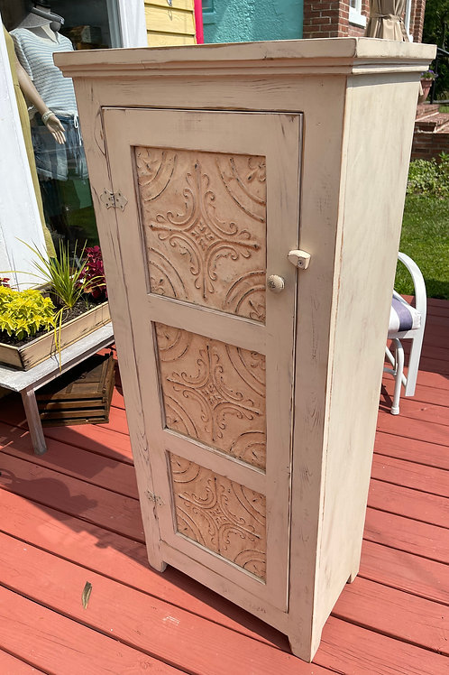 SOLD Southwest Cottage Style Tall Wood Cabinet