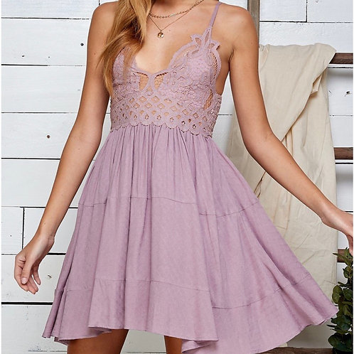 Sweet Lace Detailed Cami Dress
