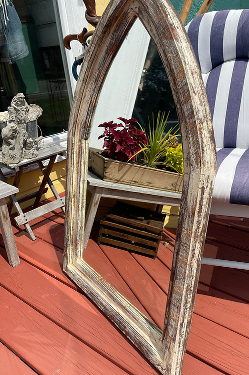 SOLD Cottage-Shabby Style Wood Mirror