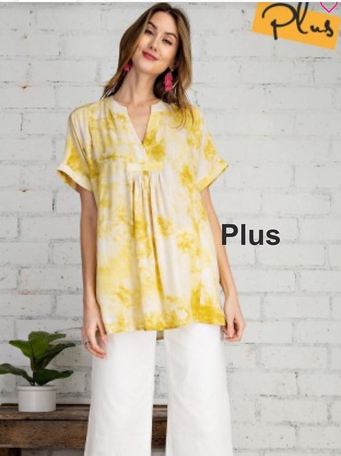 PLUS Tie Dye Challie loose fitting tunic