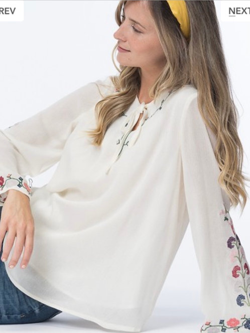 Relaxed fit Embroidered Top