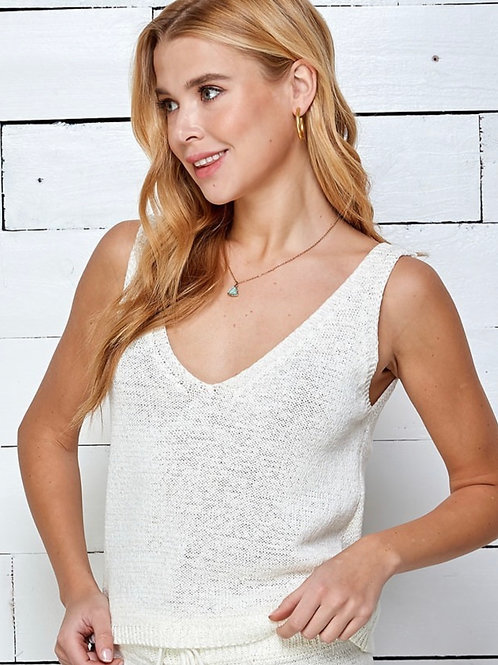 Creamy White Relaxed Tank