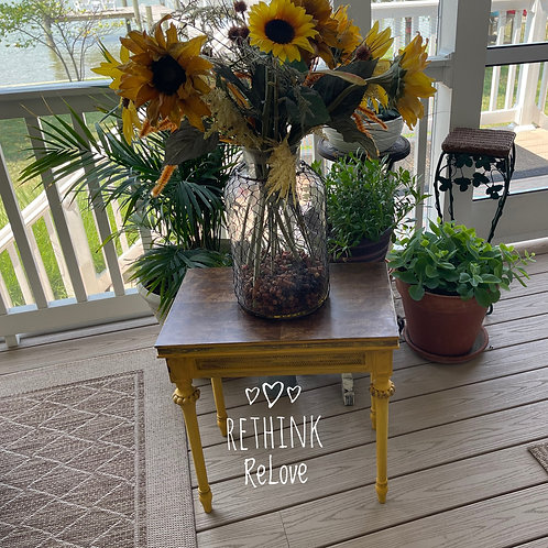 SOLD SOLD Colonel Mustard, On Porch, W/Sunflowers