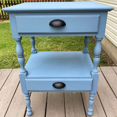 Dusty Blue Wood End table