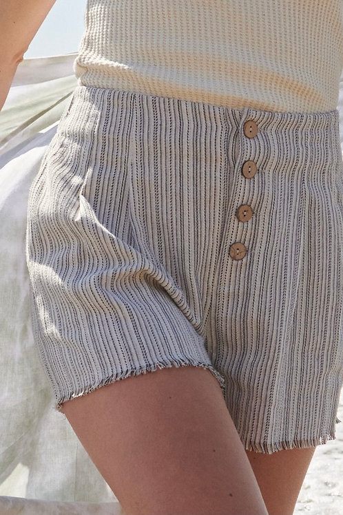 Trendy Striped Woven Shorts