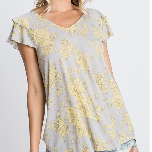 French Terry Ruffled Jersey