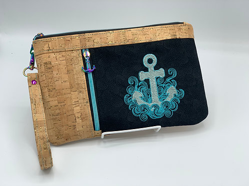 Nautical Anchor Needlepoint Pursette