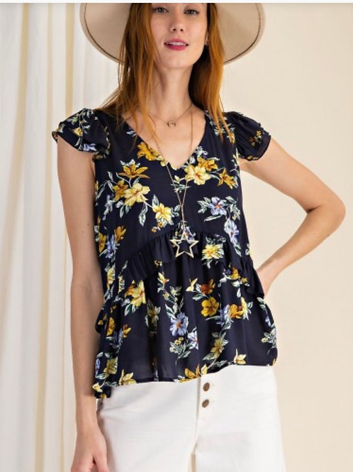 Time to Shine Floral Top