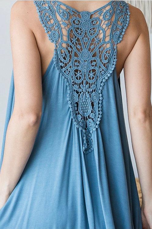 Cool Summer Dress - Slate Blue