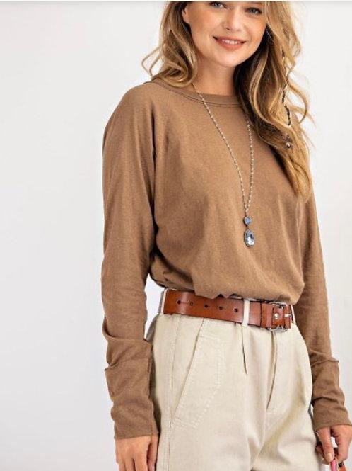 LS Cotton Jersey -- Loose Fit -- Chai/Latte