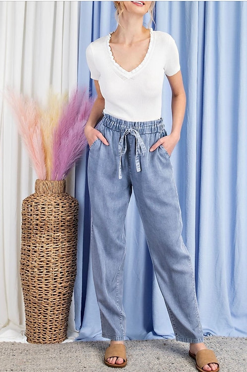 Mineral Wash High Waist Pants