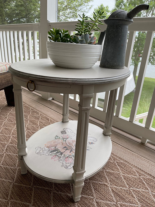 SOLD Shabby Vintage Oval Table