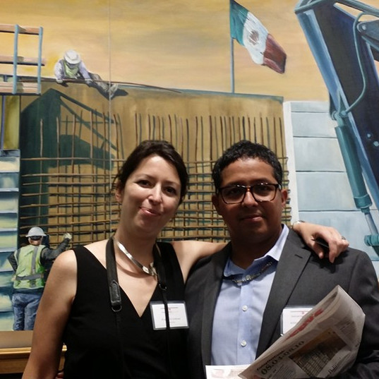 Art Director for Touchstone Gallerys with me at Political Art Exhibtion