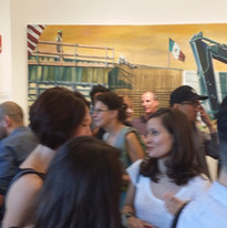 View of my painting at Washinton D.C. Political Exhibiton