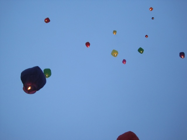 Wishes in the sky