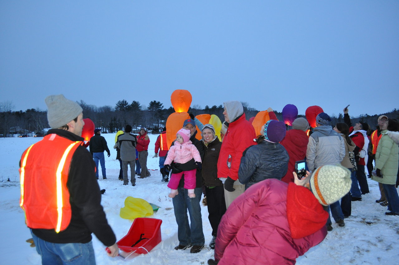 Families gather to launch wishes