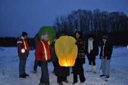 Waiting for the lantern to fill