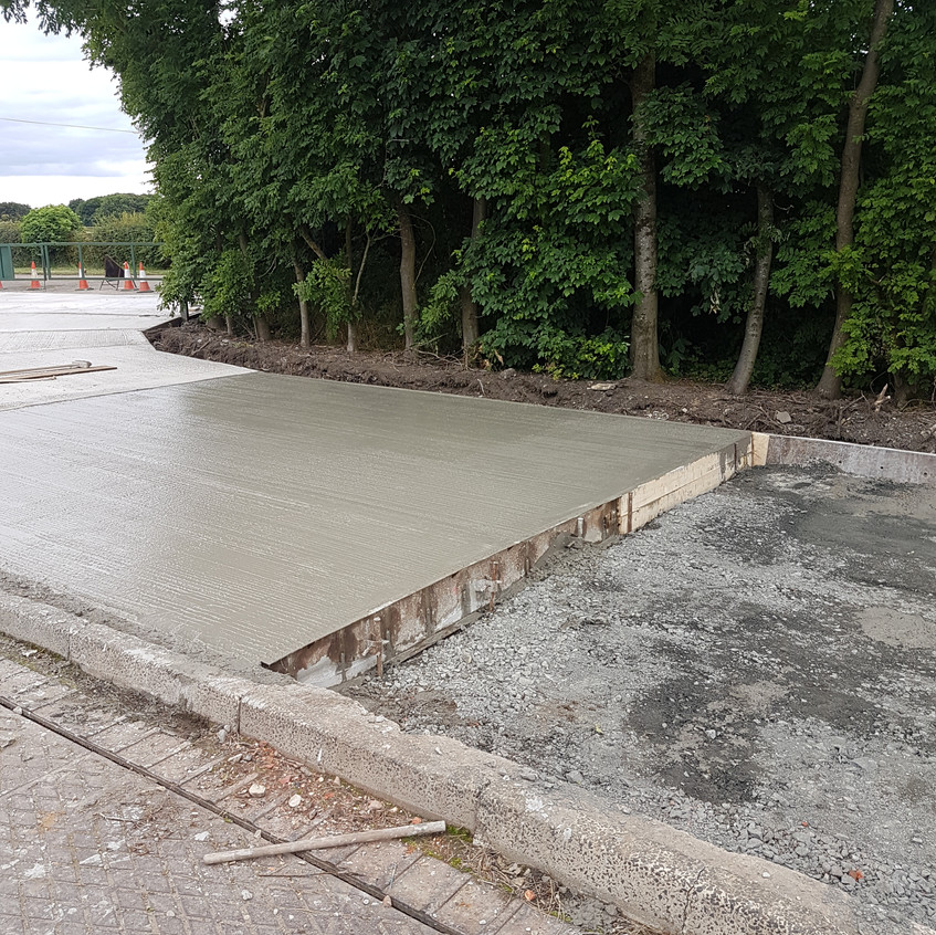 Concreting of Yard