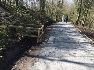 Local Country Park - renewal of footpaths