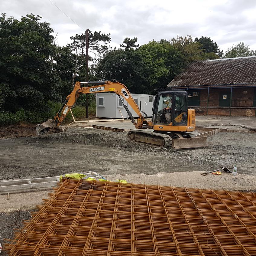 Concreting of Yard Preparation